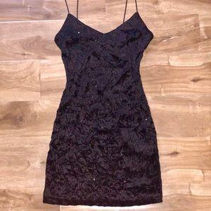 Black Fitted Mini Dress